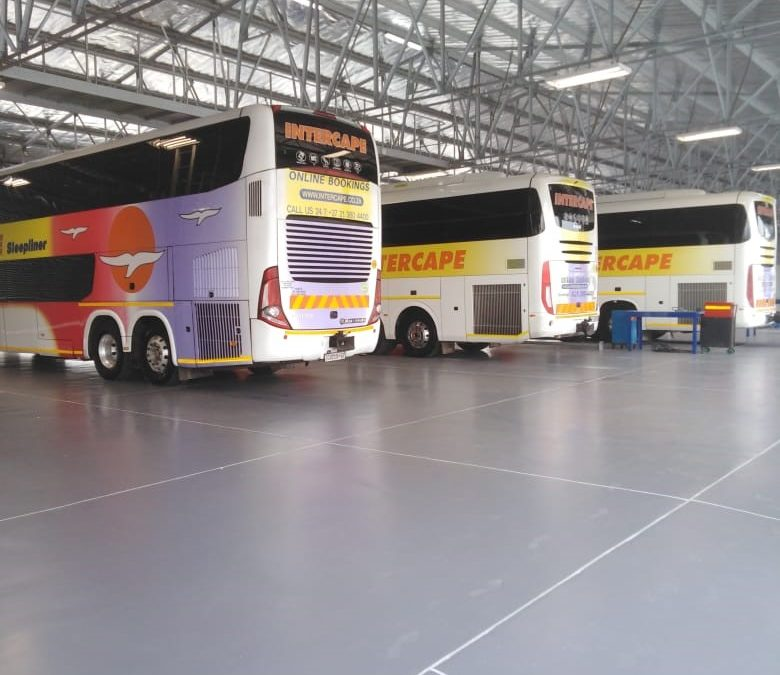 Polyurethane Flooring Intercape Bus Depot